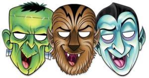 frankenstein-dracula-werewolf-printable-halloween-masks